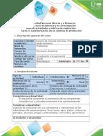 Guía de Actividades y Rúbrica de Evaluación - Tarea 4 - Caracterización de Un Sistema de Producción