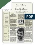 Newsletter Volume 10 Issue 40