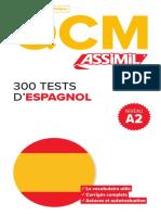 Assimil QCM 300 TESTS D'ESPAGNOL _extrait