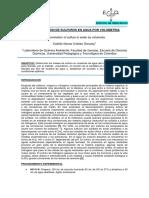 Determinacion de Sulfuros en Agua Por Volumetria
