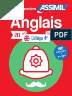 Assimil Anglais Collège 4 LV1 Les cahiers d'exercices _extrait