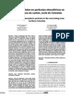 Niveles de Metales en Particulas Atmosfericas en La Zona Minera de Carbon Norte de Colombia