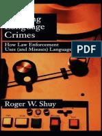 Creating Language Crime