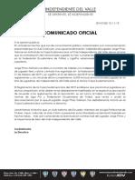 Comunicado de prensa de Independiente del Valle por el caso Pinos