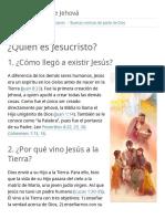 ¿Quién es Jesucristo?   Buenas noticias