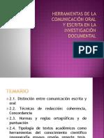 Herramientas de La Comunicación Oral y Escrita 1pte