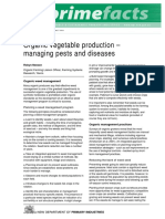 Organic Vegetable Production Managing Pests and Diseases