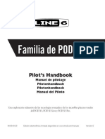 Manual pedalera Line 6 POD X3