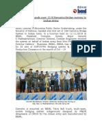 BEML hands over 15M Sarvatra Bridge system to Army