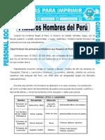 Ficha Habitantes de Peru Para Cuarto de Primaria (1)
