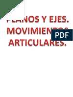 EJES Y PLANOS MOVIMIENTOS ARTICULARES 4º ESO