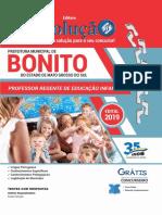 Apostila Digital Prefeitura de Bonito - Ms - 2019 - Professor Regente de Educa o Infantil PDF