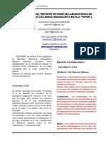 Anexo 1. Formato PAPER