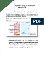 Dieta hiperproteica para un paciente quemado