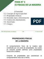 TEMA N° 005. PROPIEDADES FISICAS DE LA MADERA