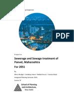 Sewerage and Sewage Treatment of Panvel, Maharashtra (Report)