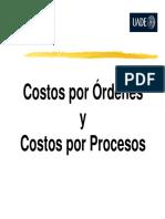 UADE Costos Por Ordenes y Procesos Prof Marcelo Artana