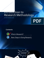 Introduction to research methodology