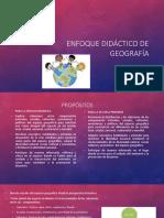 enfoque didactico de geografia