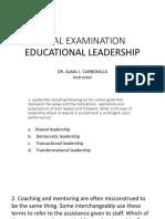 Final Exam Leadership and Mgt (2)