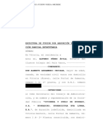 Escritura de Fusion Por Absorción y Modifica- En Vitoria, Mi Residencia a. Ante Mí, Alfredo Pérez Ávila, Notario Del