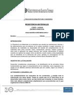 Evaluación a Distancia Resistencia de Materiales 2019-1