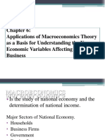Chapter 6 Applications of Macroeconomics Theory as a Basis for Understanding the Key Economic Variables Affecting the Business