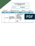 MALLA 8° (Matemáticas y Estadística) - CAC 3P 2019