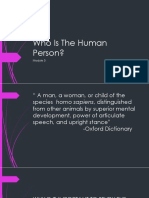 Who is the Human Person