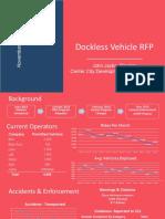 Dockless Vehicle RFP