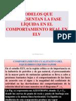 Modelos Que Representan La Fase Líquida en El Comportamiento Real en Elv
