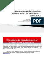 Conferencia del Dr. HERNEY ORTIZ.El Proceso Contencioso Administrativo Ordinario en la LEY 1437 .(1).ppt