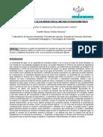 Determinacion de Alcalinidad Por El Metodo Potenciometrico