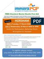 Mental health first aid training Wimmera PCP