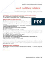 CSS Essay_ Free Speech Should Have Limitations