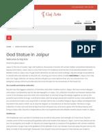God Statue in Jaipur Gaj Arts