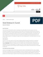 God Statue in Surat Gaj Arts