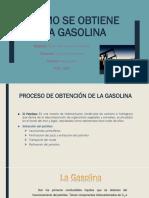 Proceso obtención gasolina