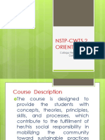 Nstp-cwts 2 Orientation