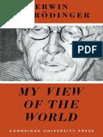 Erwin Schrödinger - My View of the World-Cambridge University Press (2008)