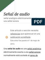 Señal de audio