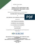 Report on MPPT