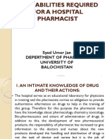 1-A Role- Abilities of a Pharmacist