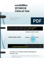 6. Role of Sponsor