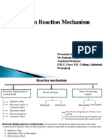 Organic reactions and their mechanisms