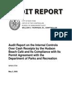 Audit Report Cash Sales