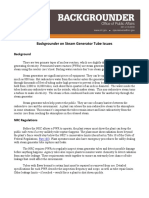 Backgrounder on Steam Generator Tube Issues