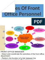 Duties of Front Office Personnel