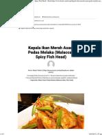 Kepala Ikan Merah Asam Pedas Melaka (Malaccan Spicy Fish Head)