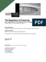 Regulation of E-Learning